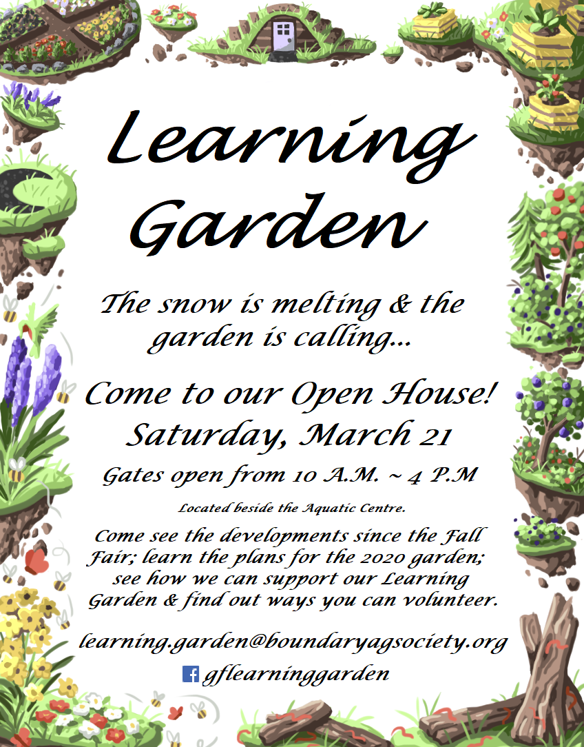 Learning Garden; Flyer; Open House 2020